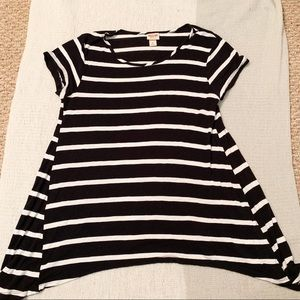 Mossimo Striped Asymmetrical Top